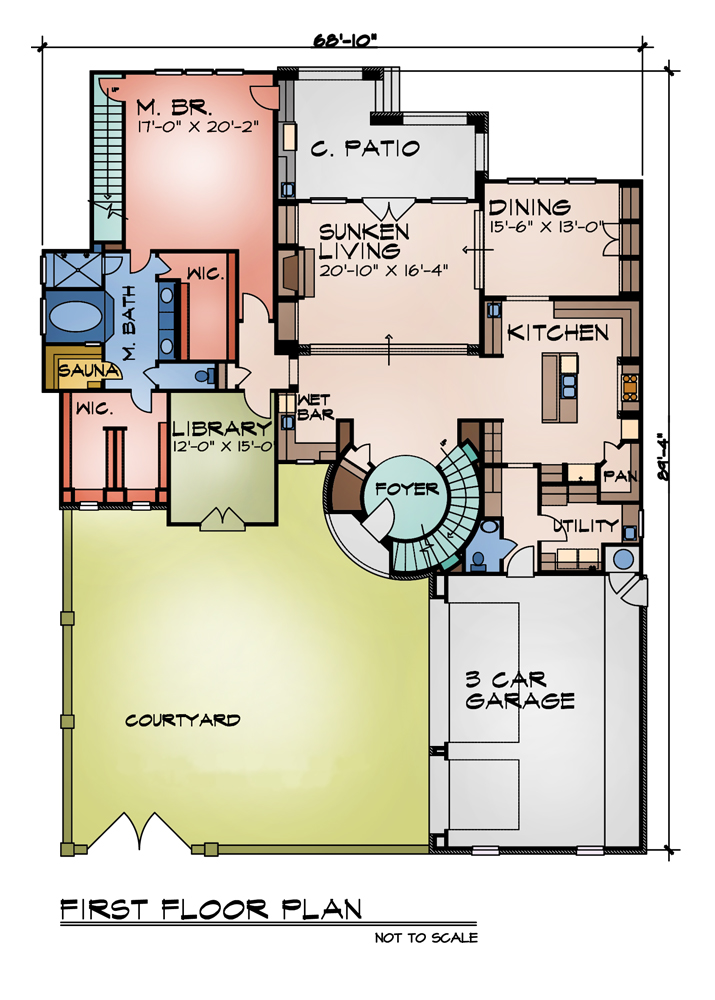 First Floor Plan image of Featured House Plan: BHG - 9014